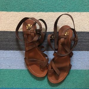 Tory Burch Ankle Wrap Gladiator Sandals